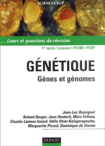 Jean-Luc Rossignol et Roland Berger - Génétique, gènes et génomes - Cours et questions de révision.
