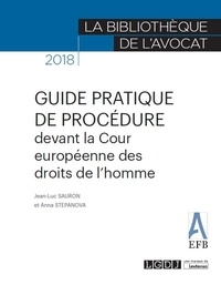 Jean-Luc Sauron et Anna Stepanova - Guide pratique de procédure devant la Cour Européenne des Droits de l'Homme.