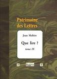 Jean Mabire - Que lire ? - Tome 9.