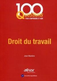 Jean Manière - Droit du travail.