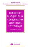 Jean-Marc Defays - Principes et pratiques de la communication scientifique et technique.