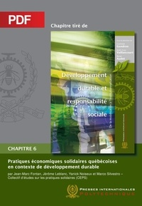 Jean-Marc Fontan et Jérôme Leblanc - Pratiques économiques solidaires québécoises en contexte de développement durable (Chapitre PDF).