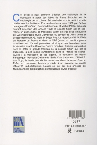 Sociologie de la traduction. La science-fiction américaine dans l'espace culturel français des années 1950