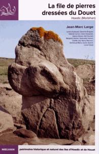 Jean-Marc Large - La file de pierres dressées du Douet (Hoedic - Morbihan).