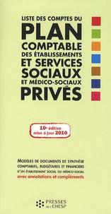 Jean-Marc Le Roux - Liste des comptes du plan comptable des établissements et services sociaux et médico-sociaux privés.