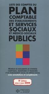 Liste des comptes du plan comptable des établissements et services sociaux et médico-sociaux publics - Jean-Marc Le Roux |