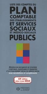 Jean-Marc Le Roux - Liste des comptes du plan comptable des établissements et services sociaux et médico-sociaux publics.