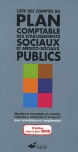 Liste des comptes du plan comptable des établissements sociaux et médico-sociaux publics- De l'instruction comptable M22 - Jean-Marc Le Roux |