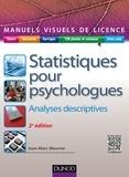 Jean-Marc Meunier - Statistiques pour psychologues - Analyses descriptives.