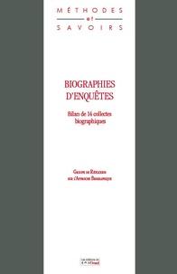 Jean-Marc Rohrbasser - Biographies d'enquêtes - Bilan de 14 collectes biographiques.
