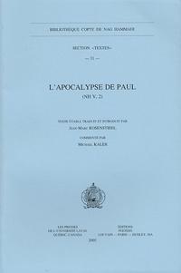 Jean-Marc Rosenstiehl - L'Apocalypse de Paul (NH V, 2).