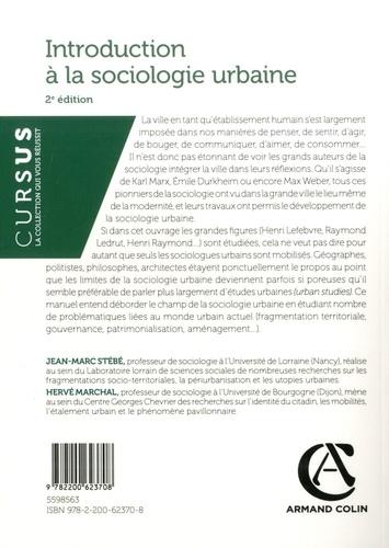 Introduction à la sociologie urbaine 2e édition