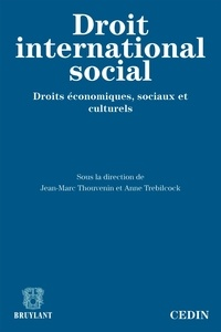 Jean-Marc Thouvenin et Anne Trebilcock - Le droit international social - Droits économiques, sociaux et culturels.
