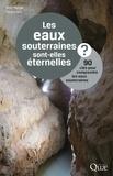 Jean Margat et Thierry Ruf - Les eaux souterraines sont elles éternelles ? - 90 clés pour comprendre les eaux souterraines.