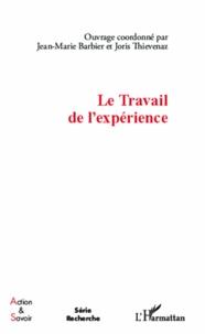 Jean-Marie Barbier et Joris Thievenaz - Le Travail de l'expérience.