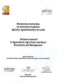 Jean-Marie Boisson et Gérard Miclet - Recherches doctorales en économie et gestion agricole, agroalimentaire et rurale - Edition français-anglais.