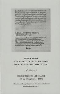 Jean-Marie Cauchies - Rencontres de Neuchâtel (18 au 20 septembre 2014) - Renaissance bourguignonne et Renaissance italienne.