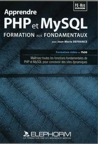 Apprendre PHP et MySQL- Formation aux fondamentaux, DVD ROM - Jean-Marie Defrance | Showmesound.org