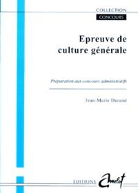 EPREUVE DE CULTURE GENERALE. Préparation au concours.pdf