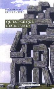 Jean-Marie Klinkenberg - Entre langue et espace - Qu'est-ce que l'écriture ?.
