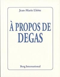 Histoiresdenlire.be A propos de Degas Image