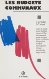Jean-Marie Marin - Les budgets communaux.