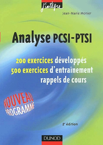 Jean-Marie Monier - Analyse PCSI-PTSI.