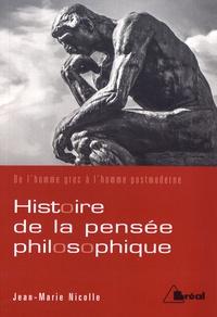 Cjtaboo.be Histoire de la pensée philosophique - De l'homme grec à l'homme postmoderne Image