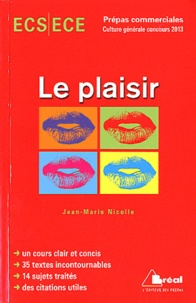 Le plaisir - Jean-Marie Nicolle |