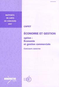 Jean-Marie Panazol - CAPET, économie et gestion, option: économie et gestion commerciale - Concours externe.