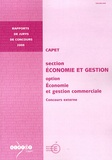 Jean-Marie Panazol - CAPET section Economie et Gestion option Economie et gestion commerciale - Concours externe.