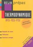 Jean-Marie Parisi et René Simon - Thermodynamique MPSI-PCSI-PTSI.