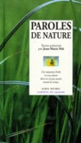 Jean-Marie Pelt et  Collectif - Paroles de nature.