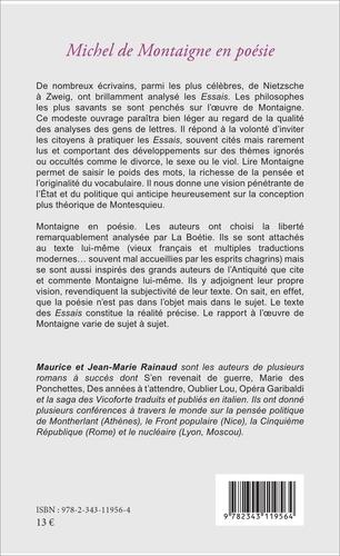 Michel de Montaigne en poésie. Essais et... erreurs