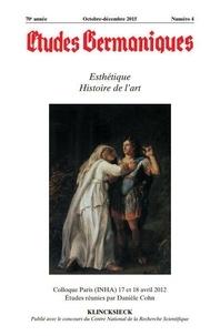 Jean-Marie Valentin - Études germaniques - N°4/2015 - Esthétique. Histoire de l'art.