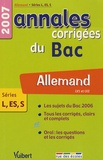 Jean-Maurice Marvier et Nicole Thiery - Allemand LV1-LV2 Séries L-ES-S - Annales corrigées du Bac.