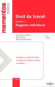 Jean-Maurice Verdier et Alain Coeuret - Droit du travail - Volume 2, Rapports individuelles.