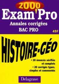 HISTOIRE GEOGRAPHIE BAC PRO. Annales corrigées 2000.pdf