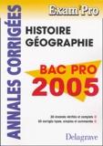 Jean Menand - Histoire Géographie Bac Pro - Annales corrigées.