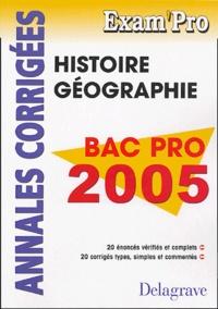 Histoire Géographie Bac Pro- Annales corrigées - Jean Menand   Showmesound.org
