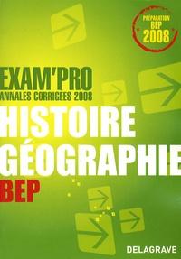 Jean Menand - Histoire géographie BEP - Annales corrigées 2008.
