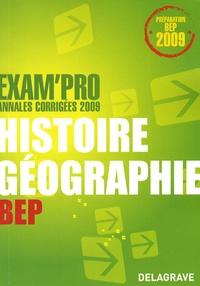 Jean Menand - Histoire-Géographie BEP - Annales corrigées.