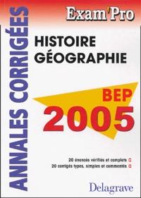 Deedr.fr Histoire-Géographie BEP - Annales corrigées Image