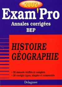 Galabria.be Histoire Géographie CAP/BEP. Annales corrigées 2002 Image