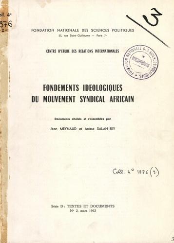 Fondements idéologiques du mouvement syndical africain