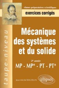 Costituentedelleidee.it Mécanique des systèmes et du solide 2ème année MP-MP*-PT-PT*. Exercices corrigés Image