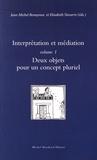 Jean-Michel Benayoun et Elisabeth Navarro - Interprétation et médiation - Volume 1, Deux objets pour un concept pluriel.