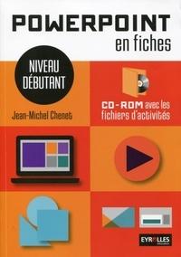 PowerPoint en fiches- Niveau débutant - Jean-Michel Chenet pdf epub