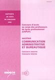 Jean-Michel Delautre - CAPLP section Communication administrative et bureautique - Concours externe et interne.