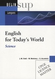 Jean-Michel Dubé et W Marshall - English for today's world - Science. 1 CD audio